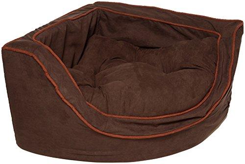 Snoozer Luxury Corner Pet Bed, Small, Hot Fudge/Cafe
