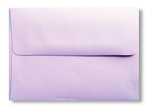 Light Lavendar A7 (5-1/4 x 7-1/4) 50 Boxed 70lb Envelopes for 5 X 7 Invitations Weddings Showers from The Envelope Gallery