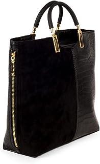 Leather Handbag - Black