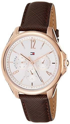 Tommy Hilfiger Damen Multi Zifferblatt Quarz Uhr mit Leder Armband 1781823