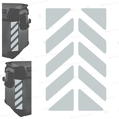 2pcs Adhesivos Reflectantes сompatible con Bolsas Laterales GIVI Trekker Outback 37L 48L...