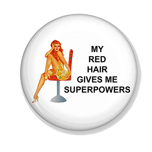 Gifts & Gadgets Co. My Red Hair Gives My Superpowers Miroir de maquillage rond 58 mm