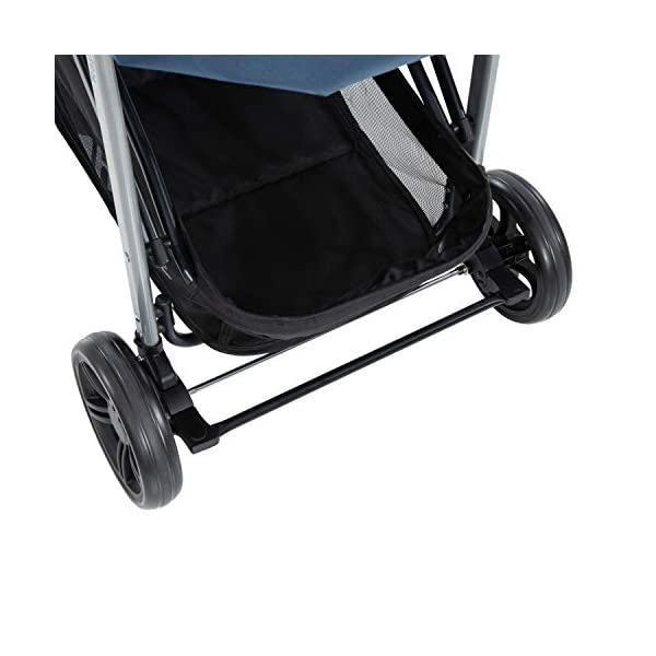 Hauck Rapid 4, 0 Months to 22 kg, Foldable, Compact, with one Hand, with Sleep Position, Height Adjustable Handle, Large Basket - denim/grey, Rapid 4, Up to 25 Kg Hauck Easy folding this pushchair is as easy to fold away as possible - the comfort stroller can be folded with one hand only within seconds, leaving one hand always free for your little ray of sunshine Long use this buggy can be used for a very long time. it is suitable from birth (also compatible with 2in1 carrycot or comfort fix infant car seat) up to a maximum of 22kg Comfortable back friendly push handle adjustable in height, the hood extendable; suspension, swivelling front wheels, soft padding, and large shopping basket 33