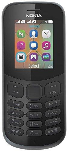 Nokia 130 Mobiltelefon (VGA Kamera, Bluetooth, extra lange Akkulaufzeit, Radio- & MP3 Player, Taschenlampe, Wecker, Dual Sim) schwarz, Version 2018