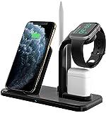 Bestrans Fast Wireless Charger 3 in 1 mit Stylus Stift Stand, Wireless Ladegerät Ladestation für...