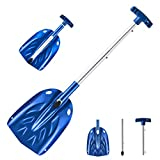 ORIENTOOLS Aluminum Lightweight Snow Shovel, 30 Inches Dismountable Garden/Sport/Snow Utility Shovel with Adjustable Length Handle Suitable for Car or Truck Storage (8' Blade)