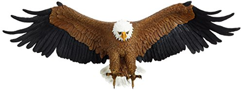 Design Toscano Freedom's Pride American Bald Eagle Patriotic Wall Sculpture, Large 31 Inch, Polyresin, Full Color
