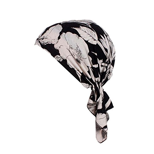 TEBAISE Turban Damen, Kopfbedeckung Turban Sommer Winnter Hut Chemo Kopfbedeckungen Headwear Muslim Kopftuch Turban Mütze Beanie