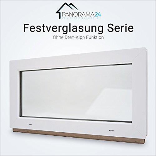 Kellerfenster - Kunststoff - 60mm Profil Festverglasung (FIB) - weiß - 2-fach-Verglasung - BxH: 90x50 cm - verschiedene Maße - schneller Versand