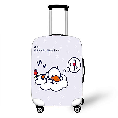 Elastic Luggage Cover, CNNINHAO 3D Print Trolley Case Protective Travel Suitcase Anti Scratch Dustproof Resistant Case Trolley Skin Protector Elasticized Washable (Platypus 1,L (26-28inch))