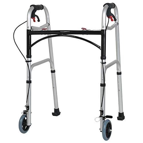 ER-ye Walker Senior Walker, Reha Walker Mit Handbremsen Höhenverstellbare Bremse Vierrad Mit Sitz (Color : B)