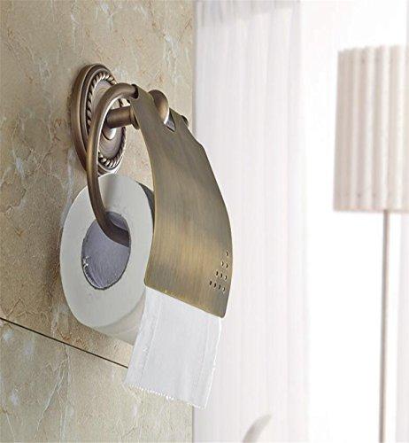 Sucastle® 150*180*160(mm) cuivre Porte Rouleau Papier Toilette Acier Inoxydable Métal Chromé Miroir Poli Dérouleur Papier Accessoirs WC,Déco Murale WC, Distributeur Papier WC-Accessoire Toilettes Salles de Bains