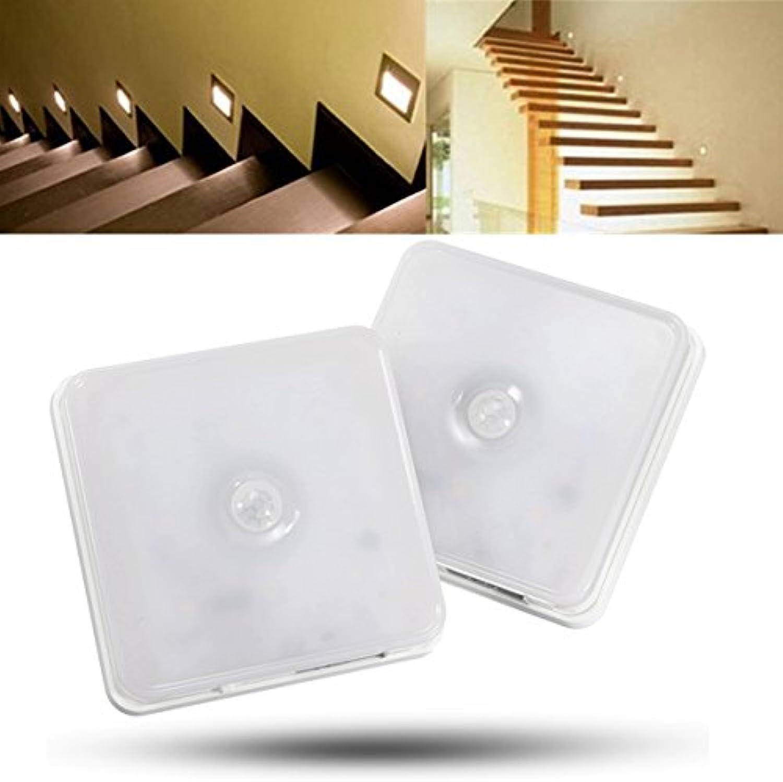 DADEQISH Wireless 8 LED wiederaufladbare PIR-Bewegungssensor-Nachtlicht-Kabinettlampe mit Hängegurt Innenlicht (Farbe   Warm Weiß) B07MYKTDDD  | Viele Stile