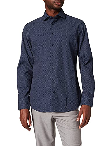 Seidensticker Seidensticker Herren Business Hemd Tailored Fit, Blau (Dunkelblau 19), 39