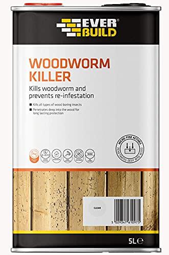 Everbuild EVBLJWORM05 Woodworm Killer, Clear, 5 Litre