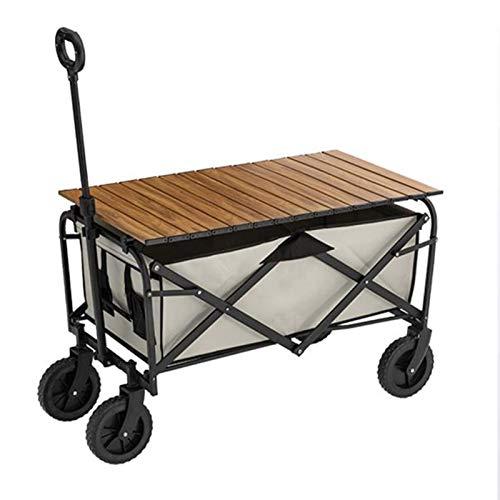 XinC Utility Four Wheeler, Outdoor Garden Duty Foldable Portable Trolley All Terrain Beach Cart Outdoor Utility