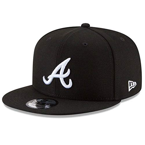 New Era Authentic Atlanta Braves Black & White 9Fifty Snapback Cap Adjustable 950