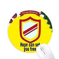 希望はあなたを自由にできる クリスマスツリーの滑り止めゴム形のマウスパッド
