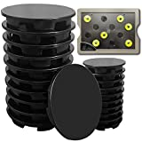 Ulrempart Plant Spacer Kit (25 Pack) for AeroGarden Plant Deck Openings, Platform Spacer Cover Lid Accessories, Compatible with Harvest, Bounty, Farm, Extra, Ultra all Models Grow Deck Openings, Black