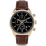 Vincero Men's Chrono S Luxury Watch 40mm Quartz Movement Rose Gold