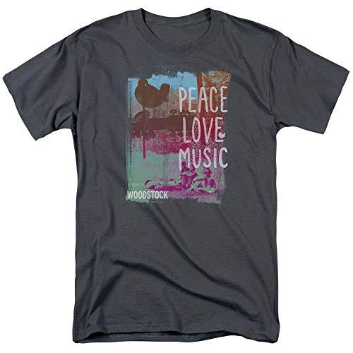 GeVo Woodstock Peace Love Music Adult T-Shirt