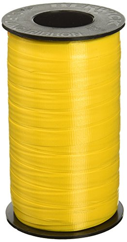 Berwick 3/8-Inch Wide by 250 Yard Spool Super Curl Crimped Splendorette Curling Ribbon, Sunshine