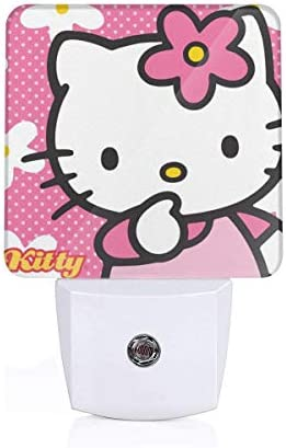 Meirdre Plug in Night Light Hello Kitty with Flower Warm White LED Nightlight with Automatic product image