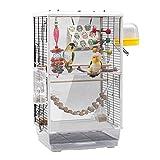 Jaula de pájaros transparente jaula de pájaros loro jaula de pájaros grande ornamental loros jaula de gran espacio transparente tipo gabinete jaula ornamental cómoda