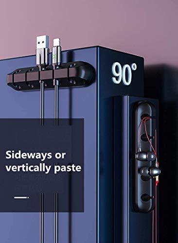 Kabelhalter-Clips, Kabel-Management, Desktop-Kabel-Organizer, Selbstklebende Haken, Kabel-Halterung für Ladekabel, Maus, USB-Kabel, PC, Büro und Zuhause(3 Bay)