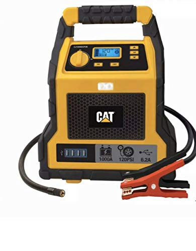 %11 OFF! CAT - 3 in 1 Professional Power Station with Jump Starter and Compressor - 4 USB Ports and ...