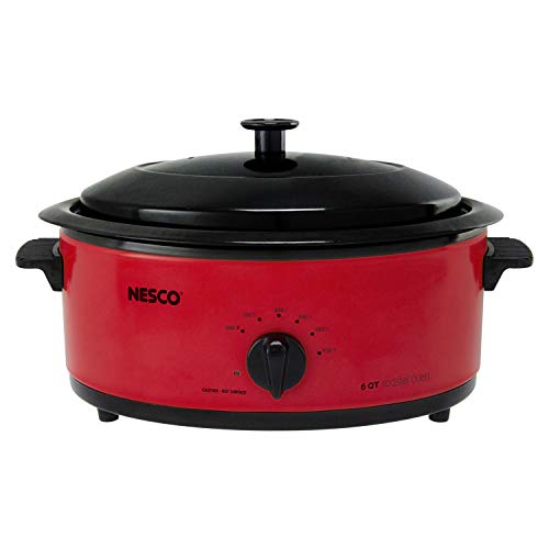 Nesco 4816-12 Roaster Oven, 6 Quart, Red