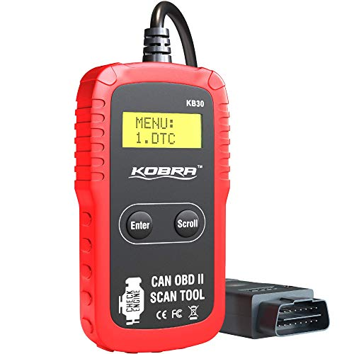 Kobra Newest Version OBD2 Scanner Car Code Reader - Universal Auto OBD Car Diagnostic Tools for All Cars, Automotive Check Engine Readers with Reset (Red and Black)