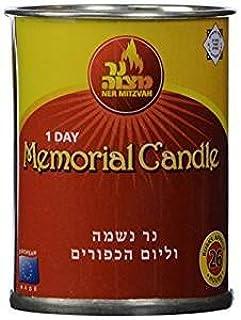 Ner mitzvá 1día Memorial vela combustión aprox. 26horas. Pack de 3.