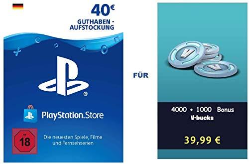 PSN Guthaben für Fortnite - 4.000 V-Bucks + 1.000 extra V-Bucks - 5.000 V-Bucks DLC | PS4 Download Code - deutsches Konto - 5,000 V-Bucks Edition