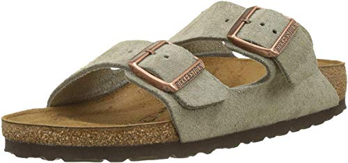 Birkenstock Unisex Arizona Taupe Suede Sandals - 43 M EU/10-10.5 B(M) US Men