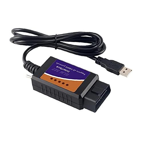 Tuimiyisou 1pc Dispositivo OBD2 del USB ELM327 el Interfaz Compatible con HS-Can/MS-Can Compatible con Interruptor ELMconfig OBD2 escáner para vehículos Superior Producto