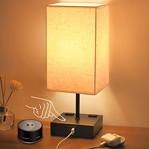 Touch Bedside Lamp, Sailstar 3 W...
