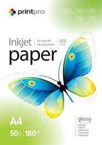 Fotopapier PrintPro von COLORWAY 50 Blatt A4 hoch glänzend 180 g/m2 Sofort Trocken Wasserfest für alle Tintenstrahldrucker
