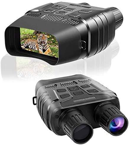 Prismáticos de visión nocturna, cámara digital infrarroja, pantalla grande, imagen HD y vídeo, gafas de visión nocturna, equipo de espionaje para caza y vigilancia con tarjeta TF de 32 G