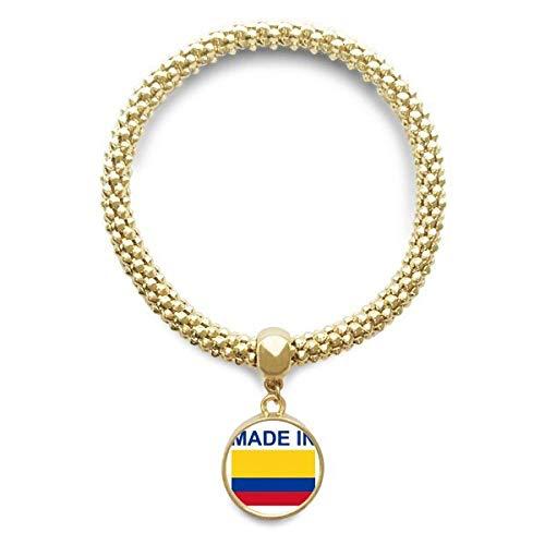 DIYthinker Hecho en Cadena de la joyería Colombia País de Oro del Amor Pendiente Redondo de Pulsera