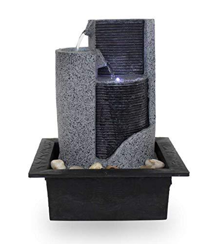 Kiom Zimmerbrunnen Tischbrunnen Dekobrunnen FoParete 27,5 cm LED 10909