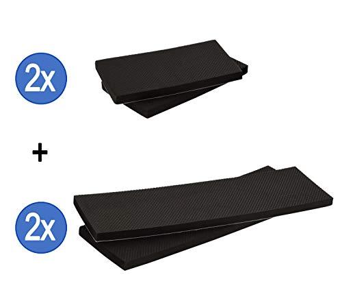 TOPP4u 2x extra langer Autotür Kantenschutz (60 cm), je 2x 40/20 cm x12 x 1,5 cm - zuverlässiger Auto-Türschutz für Garage & Carport durch 4 dicke selbstklebende Türschoner, Rammschutz