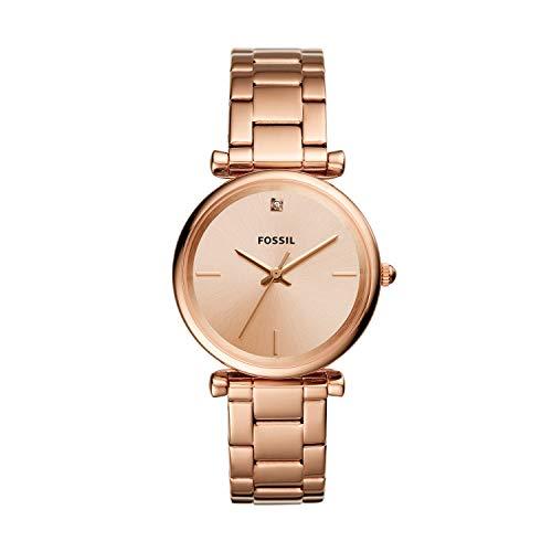 Fossil Damen Analog Quarz Uhr mit Edelstahl Armband ES4441