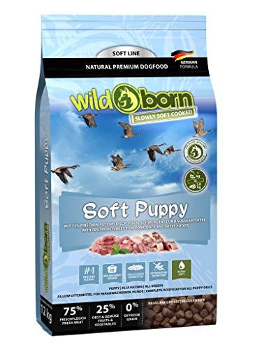 Wildborn Soft Puppy 1,5kg getreidefreies Welpenfutter mit 75% mit frischem Fleisch & Fisch | Halbfeuchtes Trockenfutter für Junge Hunde | getreidefreie Rezeptur aus Deutschland