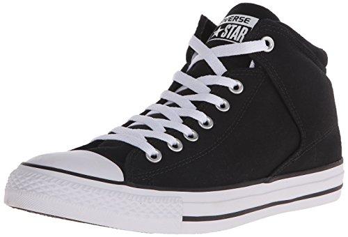 Converse Chuck Taylor All Star Street HIGH TOP Sneaker, Black/White, 11 M US