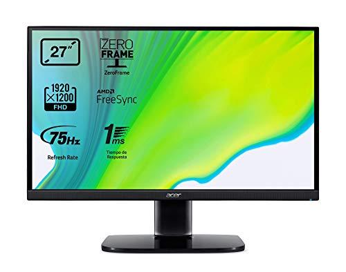 Acer KA272A - Monitor de 27  Full HD 75 Hz (68,6 cm, 1920x1080, Pantalla VA LED, ZeroFrame y FreeSync, 250 nits, Tiempo de Respuesta 1ms, VGA, 2xHDMI) - Color Negro