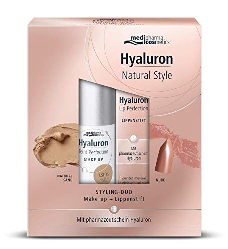 HYALURON 15877252 HYALURON STYLING-DUO Make up sand+Lippenstift nude,