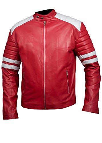 Women's Men's Real Leather Hybrid Retro Jacket