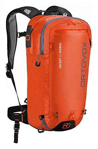 ORTOVOX Unisex-Erwachsene Ascent 22 Avabag Kit Rucksack, Orange (Crazy Orange), 24x36x45 Centimeters