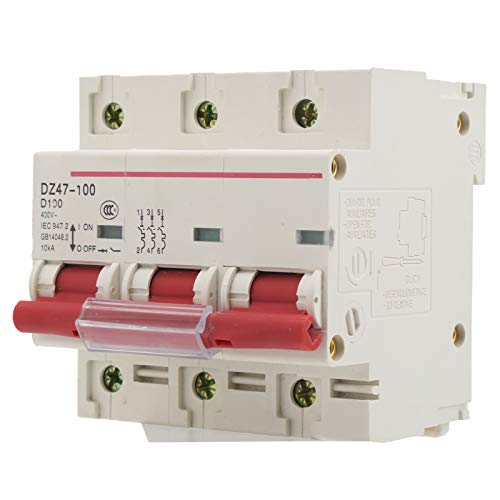 Disyuntor en miniatura Protección contra fugas tipo D Disyuntor DZ47‑100 3P D80-100A Accesorios domésticos reciclables enchufables para protección contra fugas